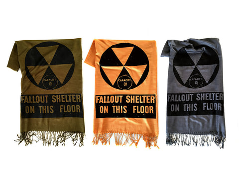 Fallout Shelter Scarf. Linen-weave pashmina