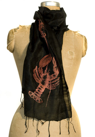 Fancy Lobster Bib Silk Scarf