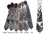 Grey shade fern neckties.