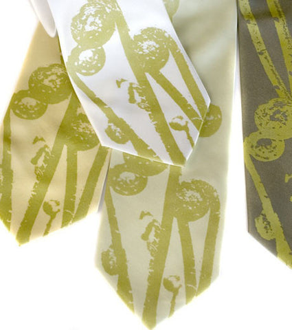 Fiddleheads Silk Necktie
