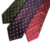 Fleur-de-lis neckties by cyberoptix. Olive, eggplant, burgundy. Antique brass print.