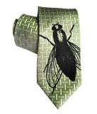 Fly Print Necktie Sale, Limited Edition Luxe Silk Tie, By Cyberoptix