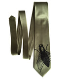 Sage green House Fly Necktie, by Cyberoptix