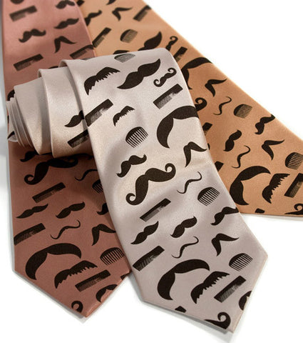 Flying Mustaches Necktie