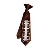 Football Lacing kids tie. Boys clip-on football necktie.