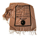 black on camel military scarf