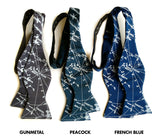 Milky Way bow ties: gunmetal, peacock & french blue.