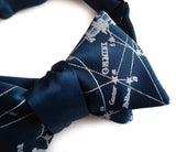Milky Way Galaxy bow tie: peacock blue.