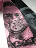 Pink Gas Mask necktie.