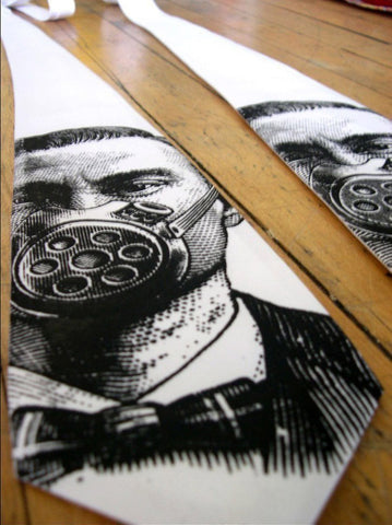 Gas Mask Silk Necktie