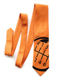 Carrot Orange Gear Shift necktie, by Cyberoptix