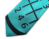 Turquoise Gear Shift necktie, by Cyberoptix
