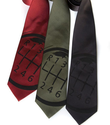 Gear Shift Silk Necktie