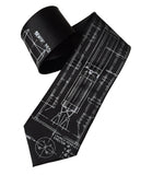 Black Project Gemini Necktie. Titan Launch Vehicle Diagram Tie, by Cyberoptix