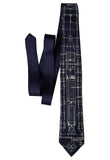 Navy blue Project Gemini Necktie. Titan Launch Vehicle Diagram Tie, by Cyberoptix