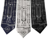 Project Gemini Printed Neckties. Titan Launch Vehicle Diagram Ties, by Cyberoptix Tie Lab, Detroit