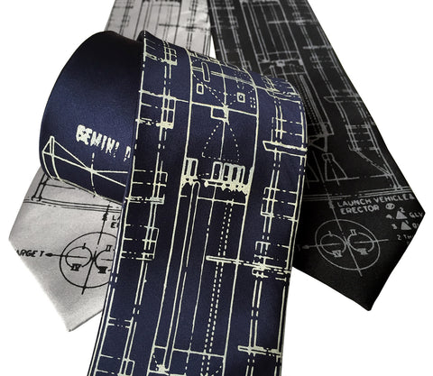 Project Gemini Silk Necktie. Titan Launch Vehicle Diagram Tie