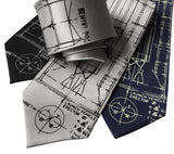 Project Gemini Neckties. Titan Launch Vehicle Diagram Ties, by Cyberoptix