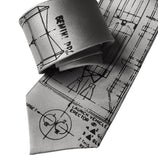 Silver Project Gemini Necktie. Titan Launch Vehicle Diagram Tie, by Cyberoptix