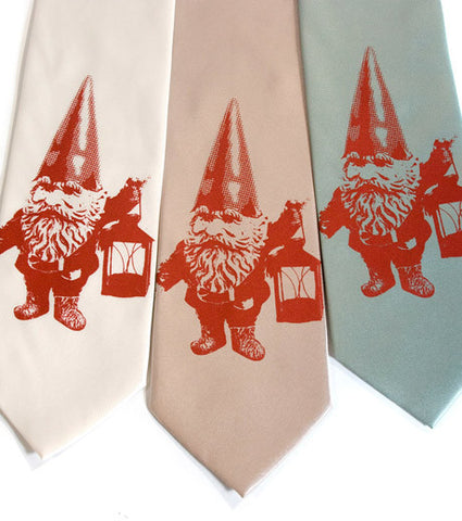 Gnomeland Security Silk Necktie