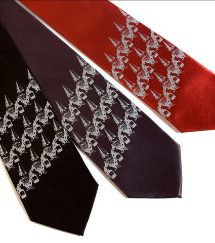 Gnome Stripe Silk Necktie