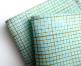 Graph Paper pocket square: moss on ice.