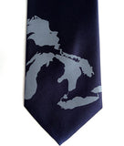 Great Lakes Tie. Steel ink on black.