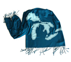 Great Lakes Linen-weave Pashmina