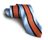 Gulf-inspired Livery: racing stripes necktie.