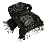 Shakespeare's Hamlet book print scarf, by Cyberoptix