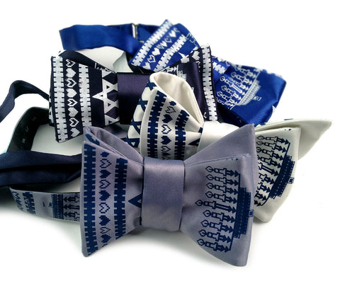 Hanukkah Sweater Bow Tie
