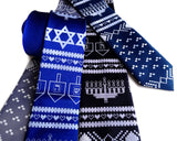 Ugly Hanukkah Sweater neckties, by Cyberoptix