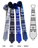 Blue Hanukkah Sweater neckties, by Cyberoptix