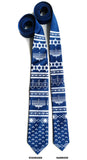 French blue Ugly Hanukkah Sweater neckties