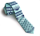 Hanukkah Sweater tie, ice blue