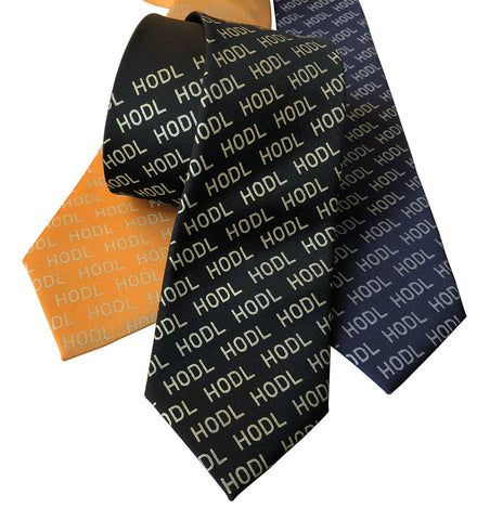HODL Necktie, Cryptocurrency Tie. (Hold On for Dear Life)