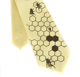 Honeybee kids tie. Boys clip-on necktie.