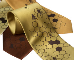 Honey Bee Necktie. Bee Hive