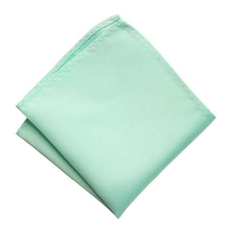 Ice Blue Pocket Square. Solid Color Satin Finish, No Print