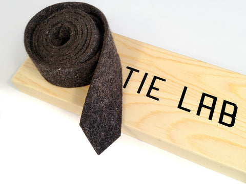 Dark Grey Industrial Felt Necktie