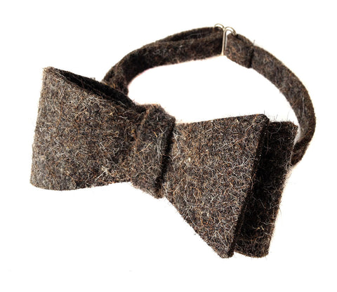 Dark Grey Industrial Felt Bow Tie