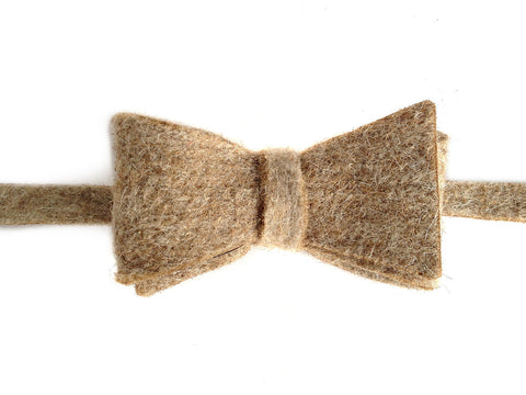 Natural Tan Industrial Felt Bow Tie