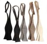 Industrial felt bow ties, untied. By Cyberoptix Tie Lab & Well Done Goods.