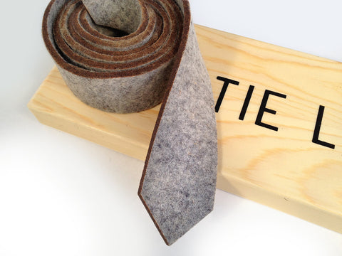 Light Grey Industrial Felt Necktie