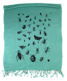 mint green bug scarf, by cyberoptix