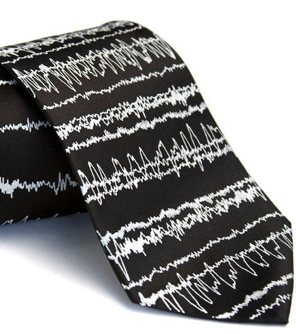 Brainwaves Silk Necktie, Insomnia
