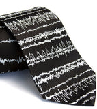 Black Brainwaves Necktie.