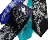 Ice blue ink on royal blue, navy, turquoise, black.