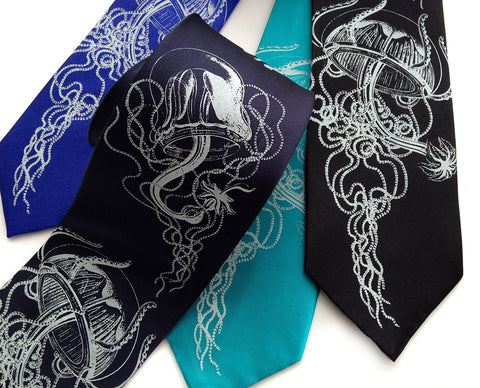 Jellyfish Necktie, Sea Creature Tie