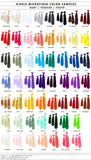 Cyberoptix kid's clip-on necktie color chart, all solid color tie colors